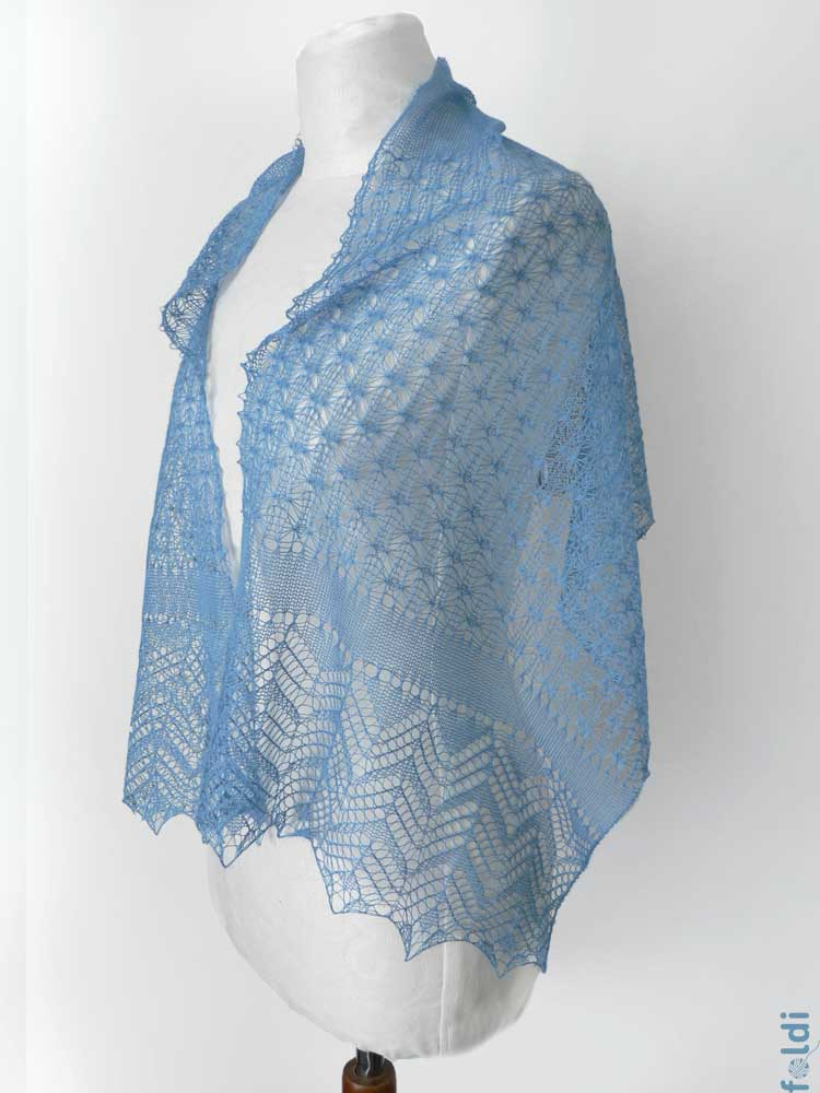 Knitting Machine Scarf Pattern : foldi: Dots Shawl