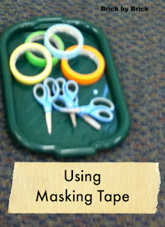 Using Masking Tape in the Preschool Classroom (Brick by Brick)