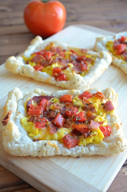 The Savvy KitchenSavory Bacon, Egg and Cheese Breakfast Pastry