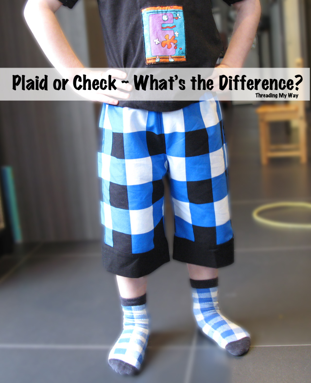 Plaid, Check or Tartan ~ What is the difference? ~ Threading My Way