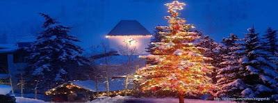 Couverture facebook sapin de Noël
