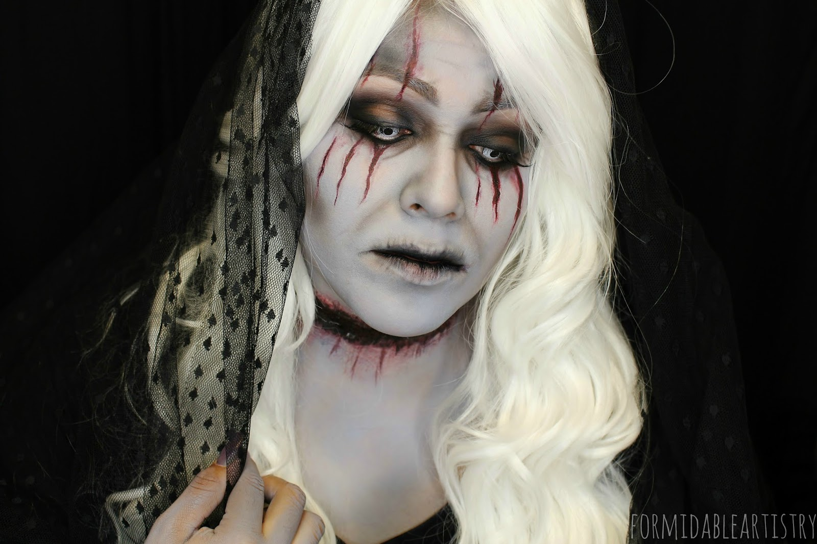 formidableartistry game of thrones lady stoneheart 31 days of rh formidableartistry blogspot com black and white makeup ideas best white costume makeup