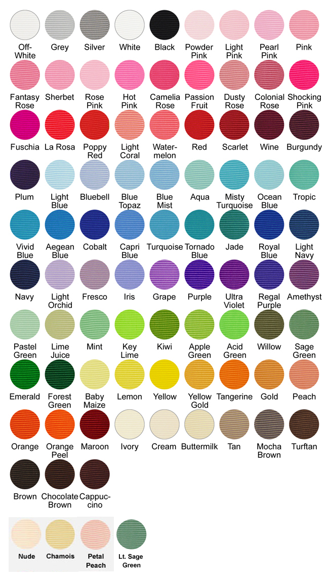 Offray ribbon color chart