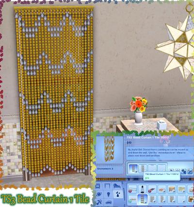 My sims 3 blog joyful girl s 1 tile beaded curtains