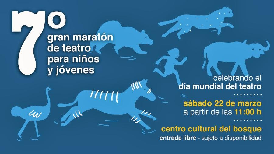 7° Gran maratón de Teatro para niños y jóvenes en el Centro Cultural del Bosque