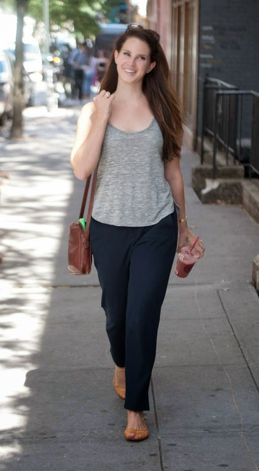 Lana Del Rey goes make up free out and about in Manhattan