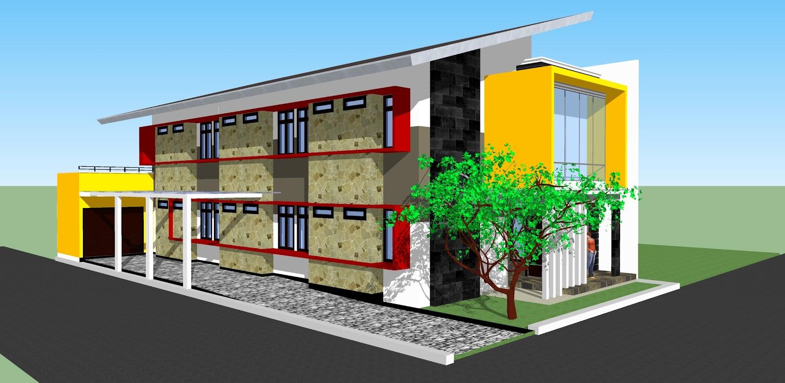 Desain Rumah Kost Minimlis