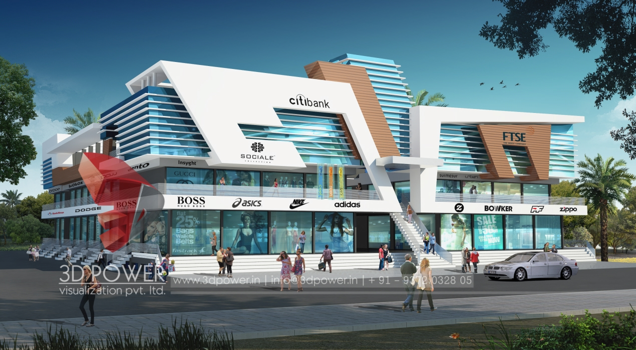 How 3d architectural shopping mall rendering read this for Shopping for home