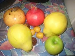 des pommes des coings et des grenades;;;