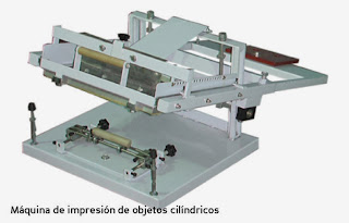 Máquina serigráfica para impresión de objetos cilíndricos