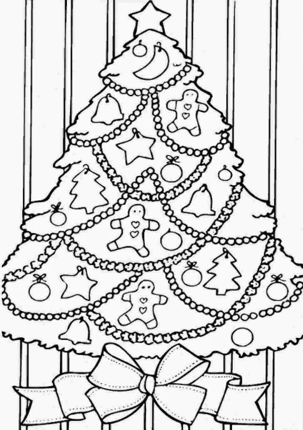 colours drawing wallpaper: Beautiful Christmas Tree And kids Colour ...