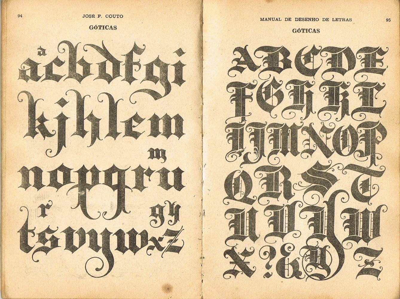 Do manual de desenho de letras