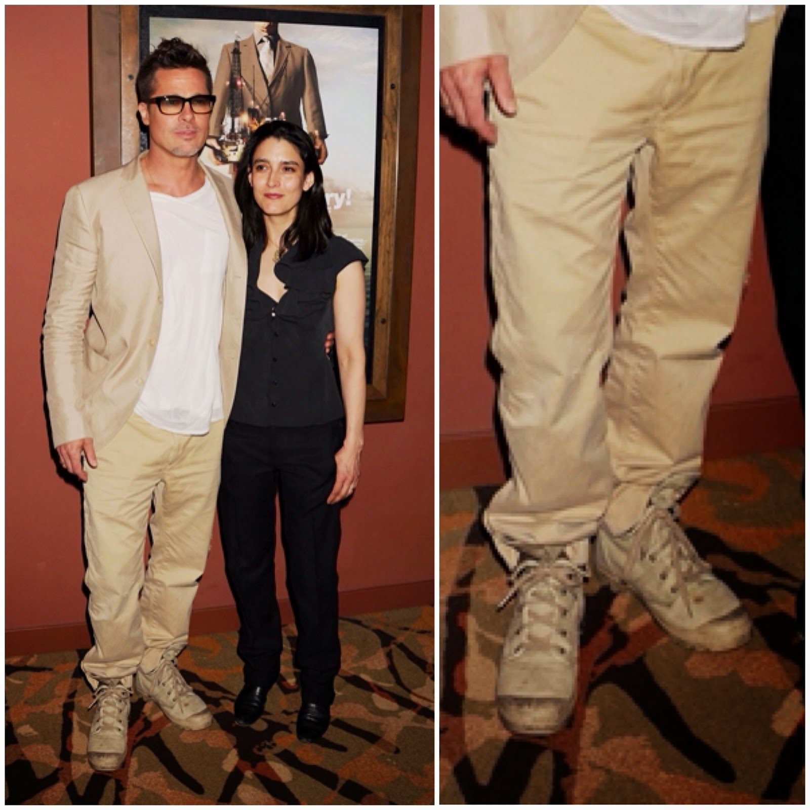 Brad Pitt's Palladium Boots - 'Big Men' Screening, Los Angeles
