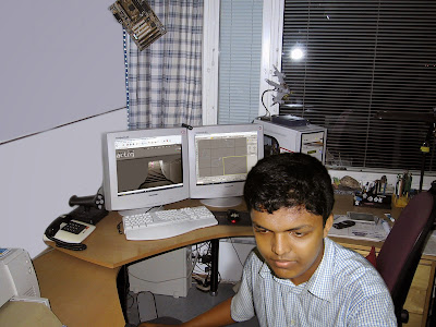 Pretending to work and posing for photo 8 years ago at my first job