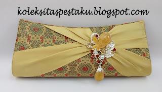 Tas Pesta Mewah Elegant Songket Sari India Gold Elegant
