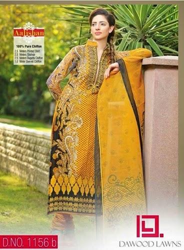 Dawood Aalishan Chiffon Lawn Vol-4 Collection 2014