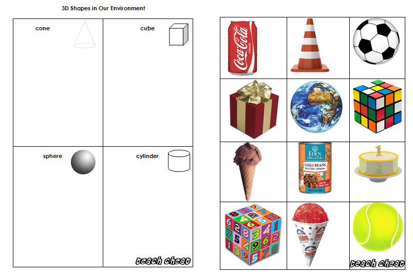 Shapes In Our Environment Worksheet Further Tree Identification on ...