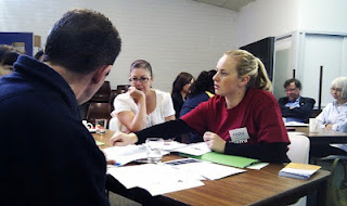 group work activity at consumer representatives training