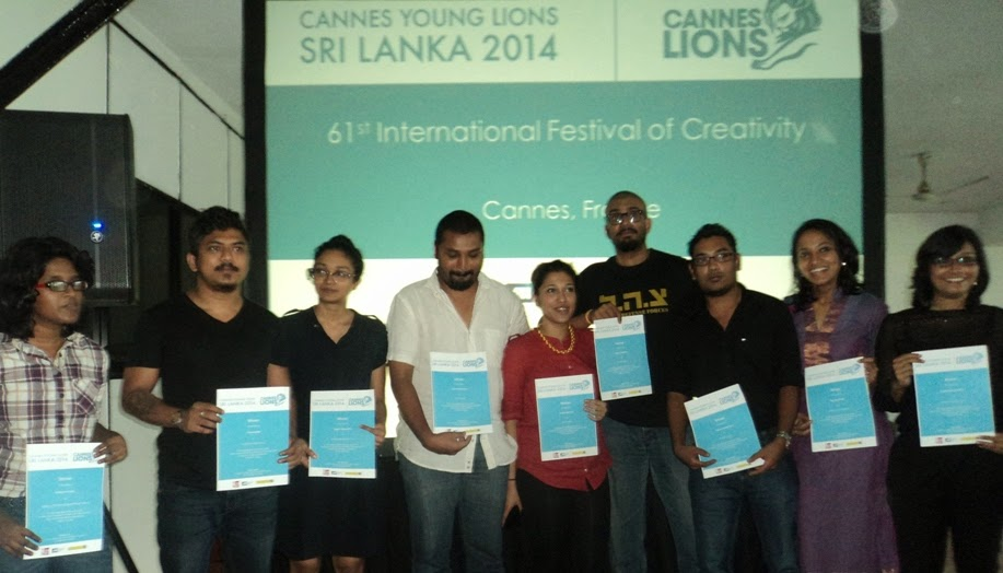 The 9 young Cannes Teams from Sri Lanka.