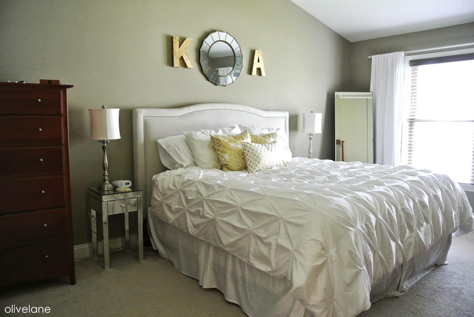gold and white master bedroom Olive Lane: Master Bedroom Update : Gold & White