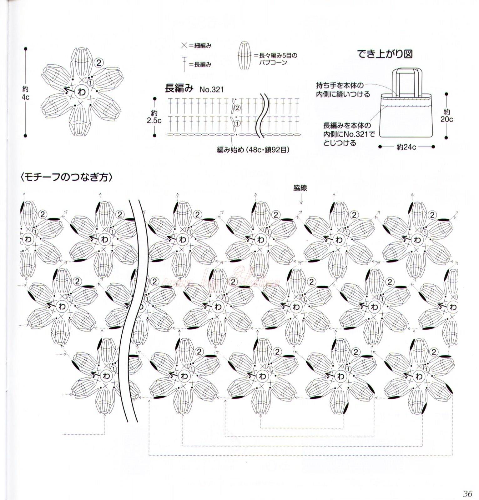 Contemporáneo Los Patrones De Crochet De Flores Colección de ...