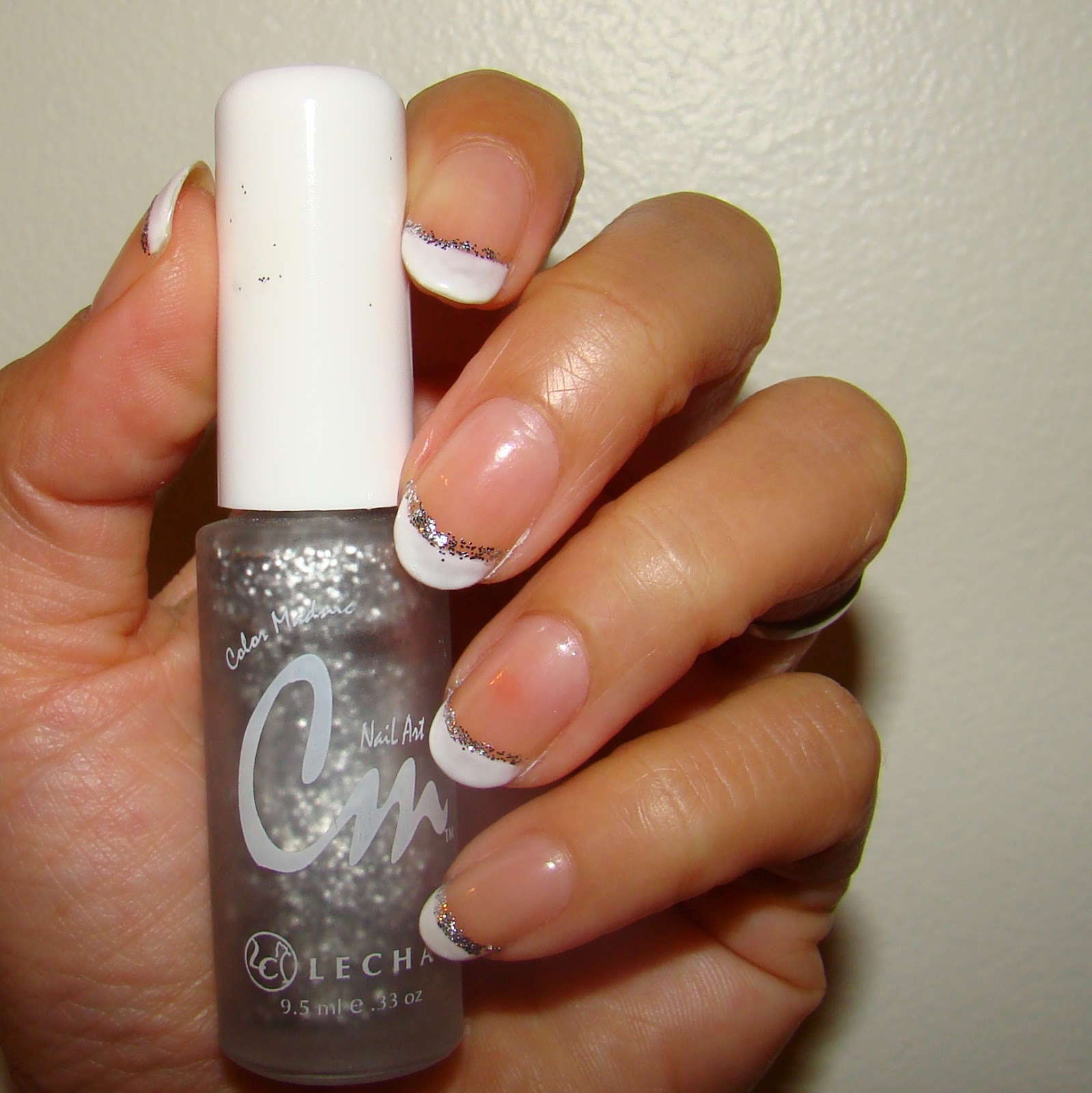 Pretty Nails and Tea: Shimmer French Manicure | Soak Off Gel Polish