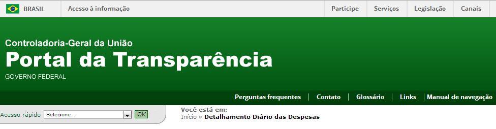 PORTAL DA TRANSPARÊNCIA / DESPESAS