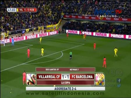 stasiun tv yang menayangkan Barcelona vs Villarreal