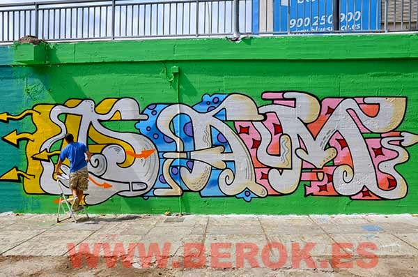 Graffiti Dam Sant Adrià del Besòs