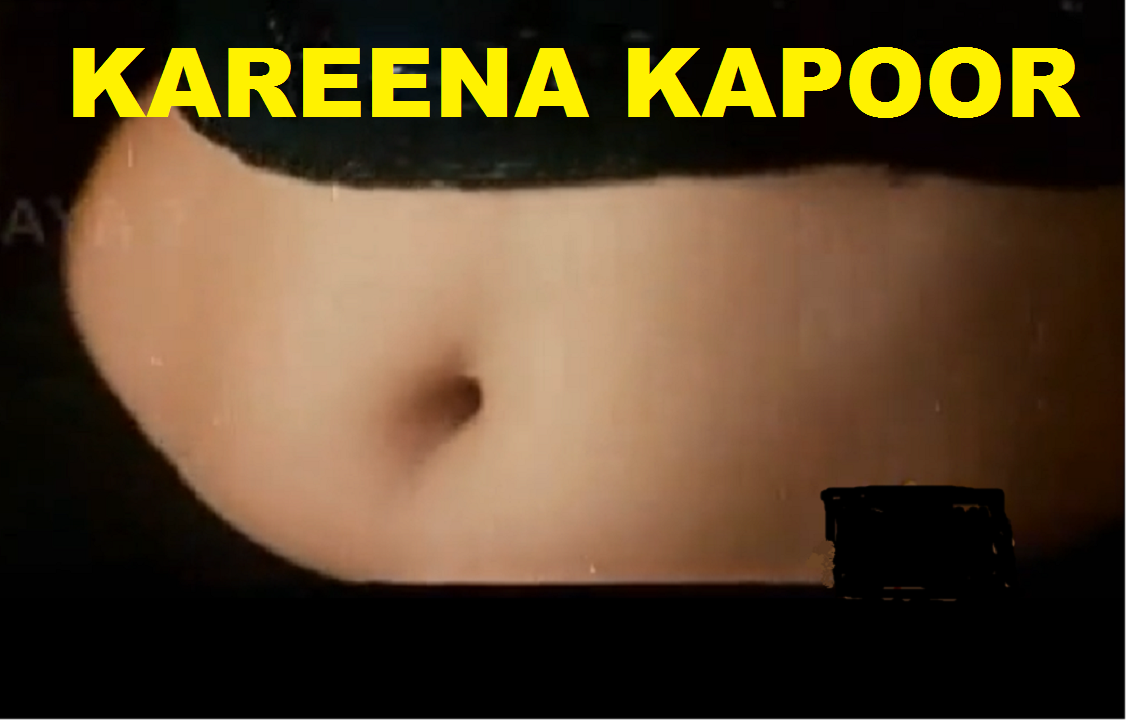 Kareena Kapoor Red Saree Navel Song