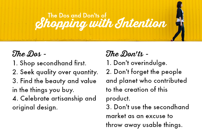 rules for shopping with intention