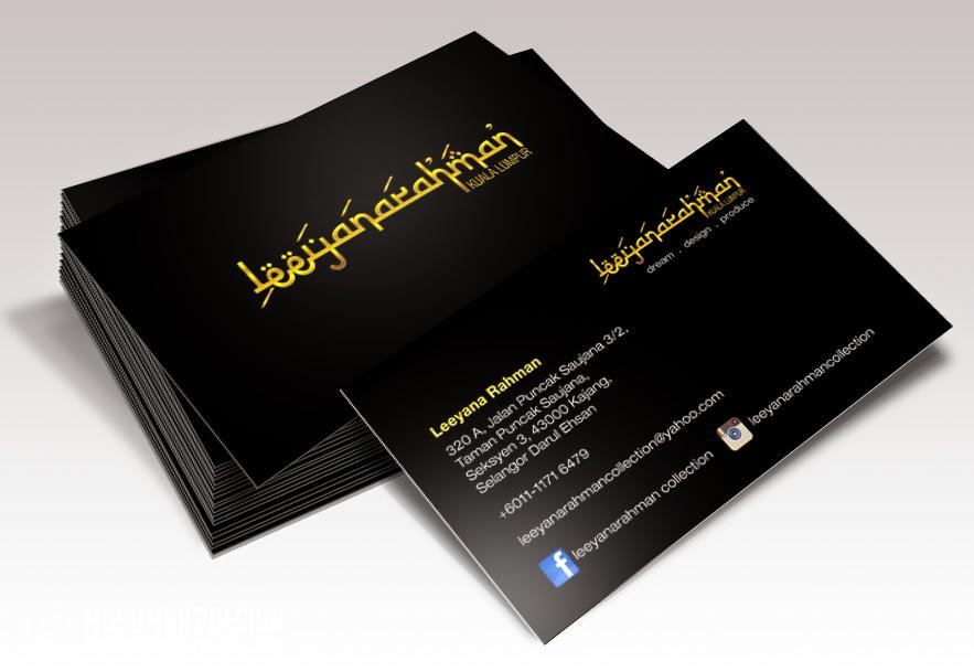 design business card eksklusif murah matte