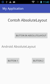 Belajar Cara Membuat Absolute Layout pada layout.xml