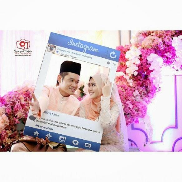5 Gambar Nubhan AF6 dan Afifah melangsungkan Majlis pertunangan mereka