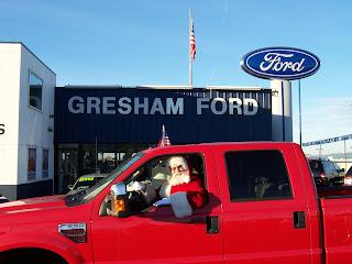 Santa Visits Gresham Ford