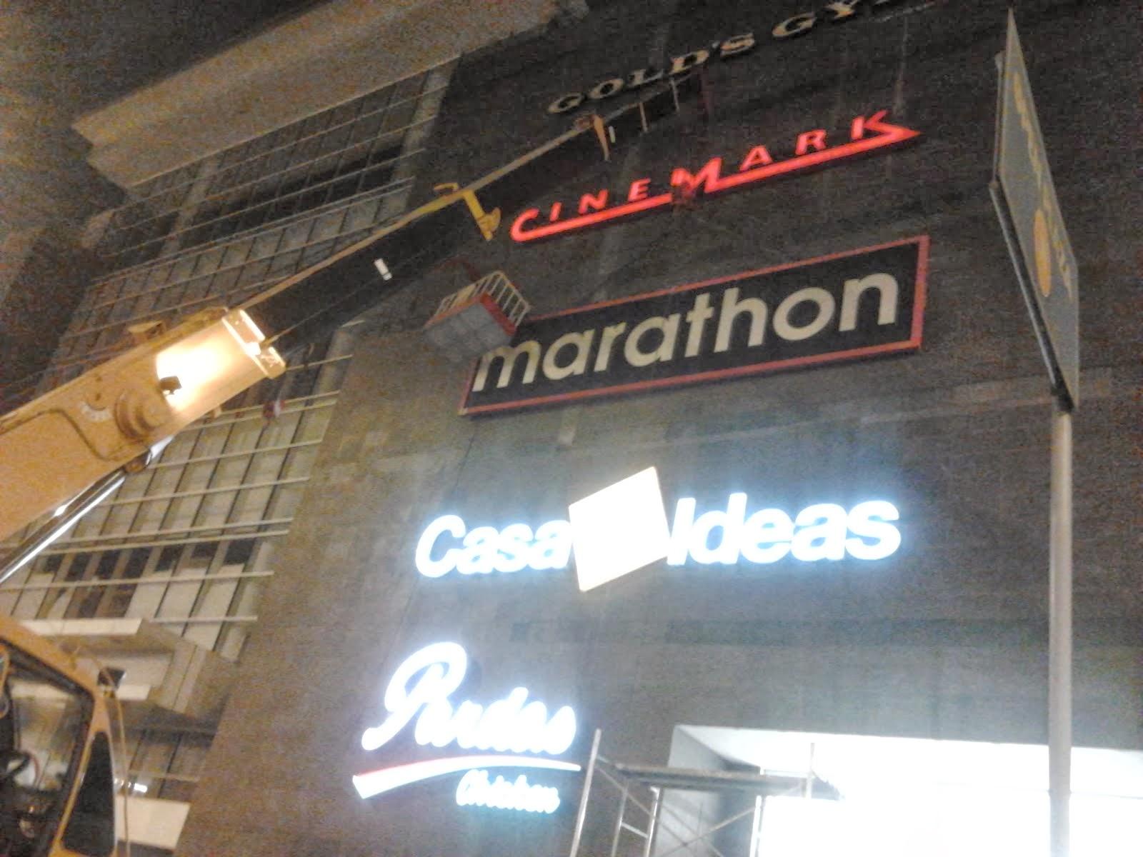 marathon - LETRERO ILUMINADO DE MARATHON