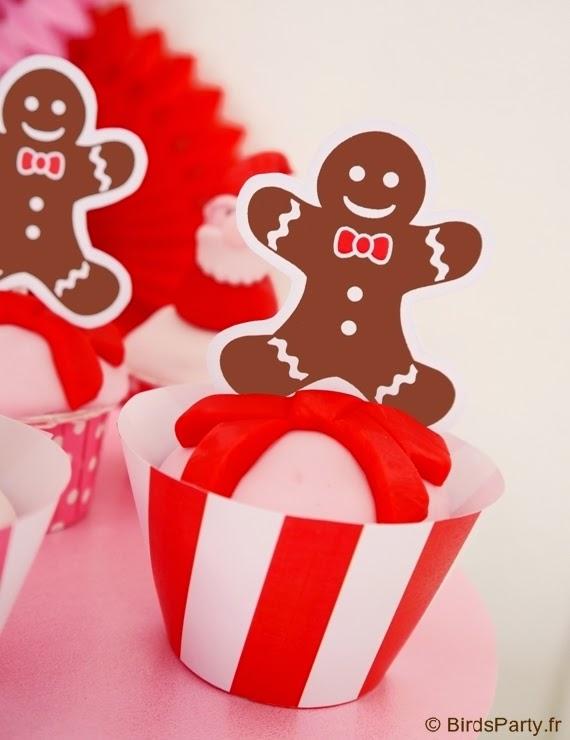 cupcakes noel bonhomme pain d'épice
