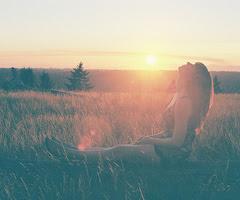 Alívio, alegria, amor, paz interior...