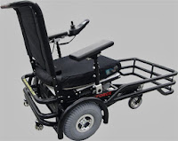 power wheelchair that has a bumper gate in the front of it