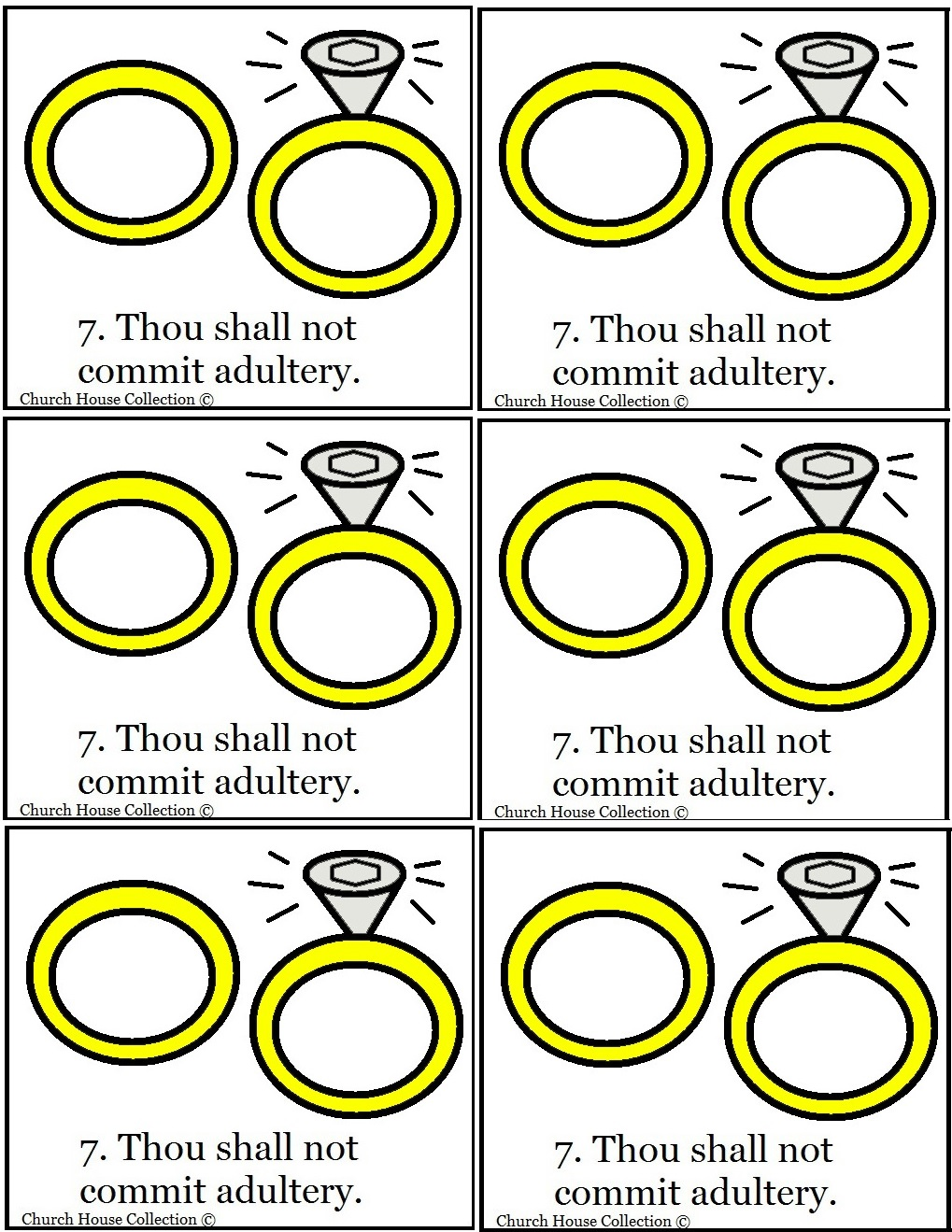 Junior church lessons and crafts - Thou Shalt Not Commit Adultery Template For Sunday School Crafts For Ten Commandments