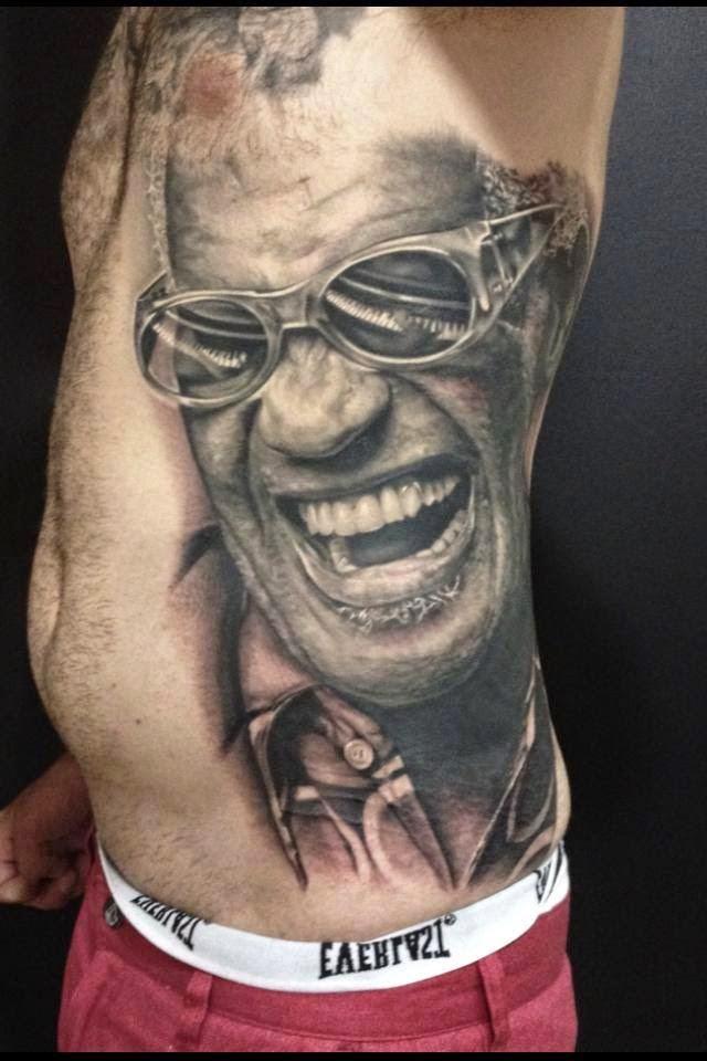 Tatuaje de Ray Charles