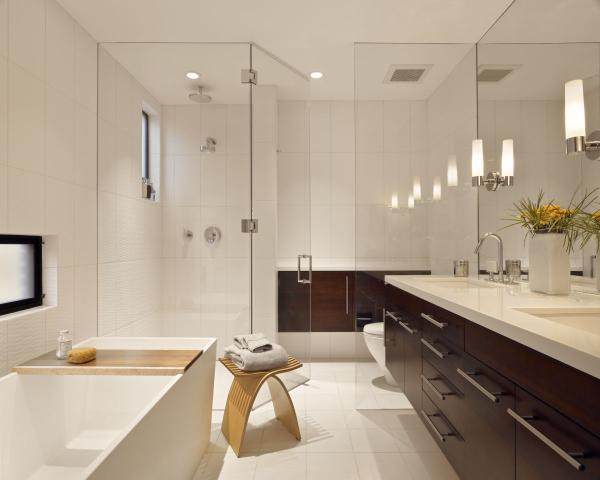 Modern Large Bathroom remodeling photo