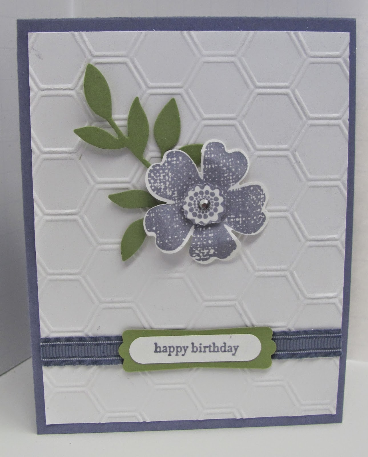 Personally Yours Stampin Up Flower Shop Birthday Card