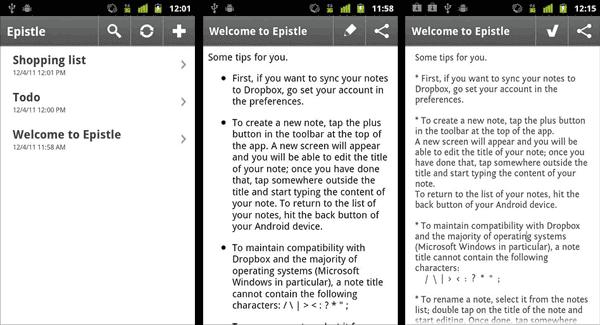Toma notas y sincronízalas con Dropbox gracias a Epistle