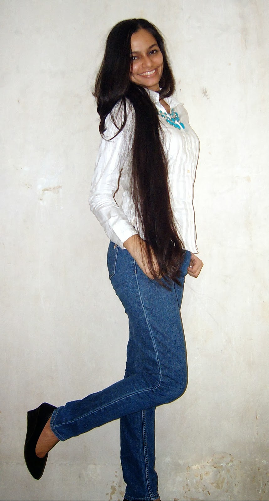 wedges, statement neckpiece, white shirt, blue jeans, casual outfit of the day, indian fashion blogger