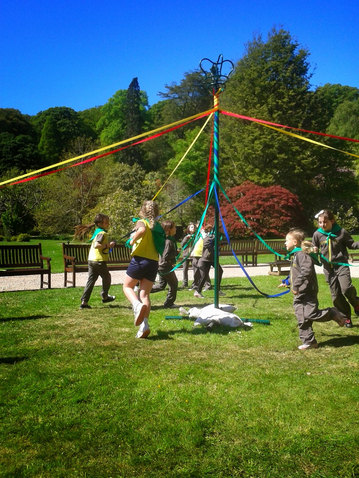 Brownie birthday celebrations which took place at Muncaster Castle 2014