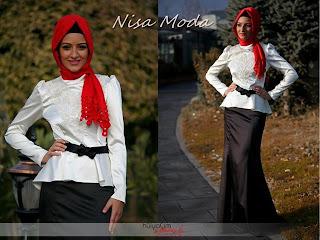 nisa moda 2014 tesett%C3%BCr Elbise modelleri67 nisamoda 2014, 2013 2014 sonbahar kış nisamoda tesettür elbise modelleri