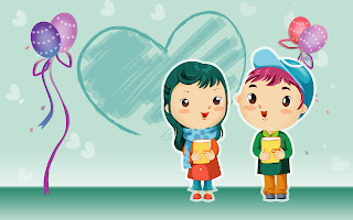 romantic cartoons wallpaper
