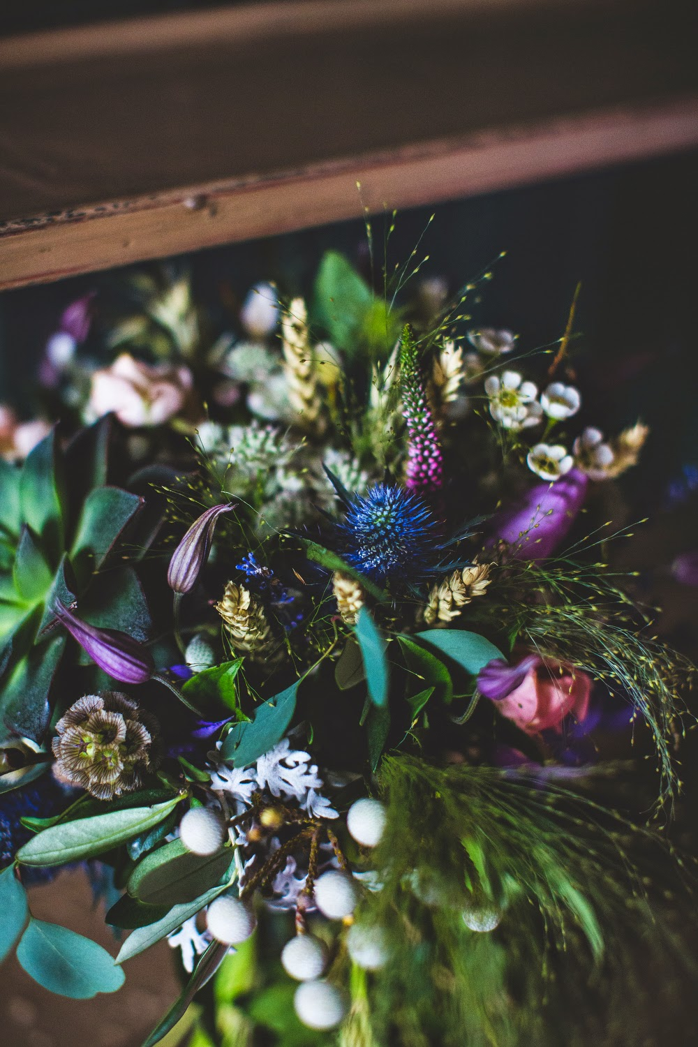 Wild bouquet by Sheffield florist Campbell's Flowers