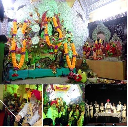 SS Ahluwalia inaugurates Durga Puja at Darjeeling Nripendra Narayan Bengali Hindu Hall